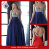 E0225 Hot Sale Backless Flowing Empire Waist Long Chiffon Evening Dress