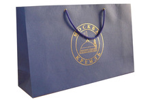 luxury branded clothing paper shopping gift bag with handles