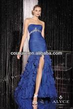 Spring 2014 Sweetheart Sleeveless Blue Side Split XT-754 Evening Dresses China for seniors