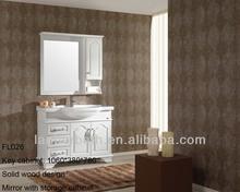 European style white italian lacquer bathroom furniture