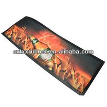 rubber bar mat,sublimation CMYK print non-woven fabric brand bar mats