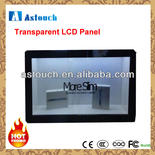 New product 15inch transparent LCD display with touch screen optional