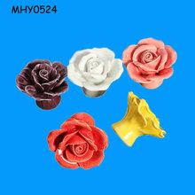 Decorative flowers customized novelty Handle and Knob