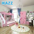 ikazz mdf melamina cartoon beliches mobília do quarto jogos para meninas