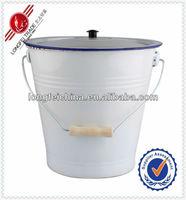 24cm Enamel Small Antique Water Bucket Porcelain Bucket