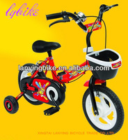 16 'inch cartoon colorful lovely basket kids bike with full chain cover