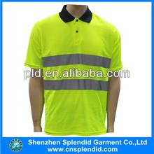 hi vis polo shirt short sleeve reflective security polos promotion