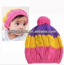Children Baby Knitted Crochet Beanie Hat Cap with Pom Pom