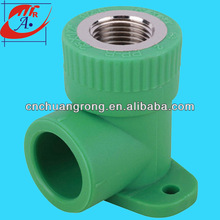 ppr plastic female elbow with disk