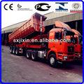 de elevación frontal 80 toneladas remolque de camión de volteo