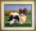 2014 alta qualidade bela pintura do cão, pinturas modernas para sala de estar