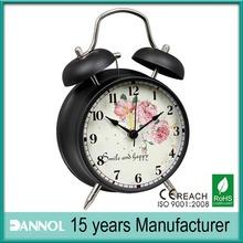 4 inch metal digital desk clock / antique desk clock / retro alarm