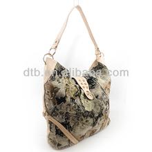 Cat Pattern Leather Hobo Bag for Women