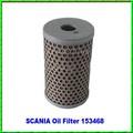Camiones piezas de repuesto filtro de aceite para Scania 153468