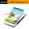 "New Arrivals MTK6592 Octa Core Haipai N7892 android phone with S-pen 6""IPS 720P android 4.2 Ram 2G 13MP Rom 16G Dual SIM mobile"
