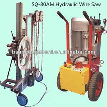 utility concrete cutting tool SQ-80AM automatic hydraulic concrete wire saw machine
