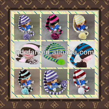 baby beanie crochet hat elf long tail hand knitting hat