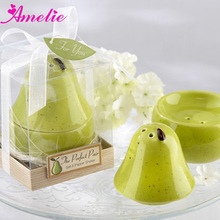 "A80526 The ""Perfect Pair"" Pear Ceramic Wedding Favors Wholesale"