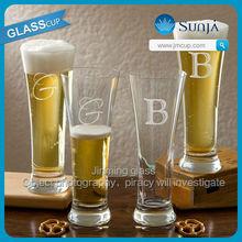 Handmade High White Glass Beer Cup Drinking Pint Glass Cup Mug