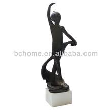 Competitive girl figure,dance statue,dance crafts