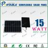 2013 New Sunpower solar cell high efficiency semi flexible solar panel 15W (PETC-SE15H)