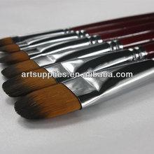 TR213 nylon hair artist acrylic filbert head brush, select brush set, fine art paint brush