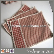 Modern Table Mat/Red Plaid/tapete estera *HL-RD2003