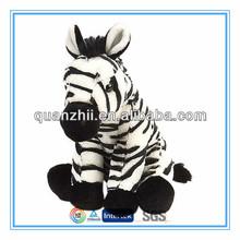 Custom cute zebra stuffed animals CE ASTM