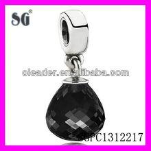 Fashion pandent with high grade black CZ stones_Hot sell wholesale FACET stones pendant_Popular fashion NICE ZIRCON PENDANT