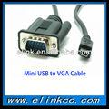 Mini usb para VGA cabo adaptador de alta qualidade