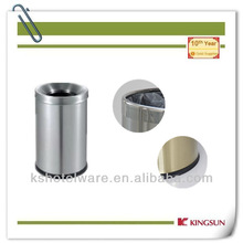 housekeeping round room single layer metal dustbin with cover