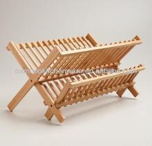 Bamboo Kitchen Dish Shelf