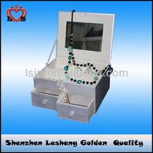 Classics custom logo printed jewelry boxes & leather jewelry box,cheap jewelry box