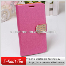 pu case for Samsung s5 leather silk skin diamond phone cover
