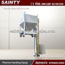 Ntd-1800 fda aprovado elétrica tambor/bin elevador coluna