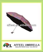 "21"" *8k advertising aluminum 3 fold umbrella"