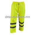 2014 nuevo estilo de pantalones fluorescente con cinta reflectante
