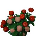 Frutas decorativas pêssego e laranja bonsai para decoração