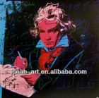2014 wall art pop art oil painting Beethoven on linen canvas