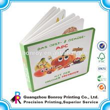 Custom Children hard card board book printing factory