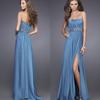 HE0222 off shoulder strapless hear shaped neckline crinkle pleat floor length slit side fashion evening dresses 2013 with sash