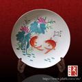 jingdezhen directa de la fábrica del oem decorativas de navidad de cerámica pintada a mano placas