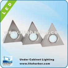 4.5W 3 Piece Triangular china made energy saving G4 puck under cabinet lighting price