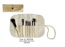 mini 7 pieces cosmetic makeup powder/eyebrow/eyeliner/eyeshadow brush set with cosmetic bag