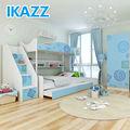 ikazz moderno cartoon crianças melamina adolescente sala de estudo do dormitório 2 camas juventude mdf móveis