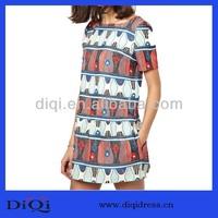 Roman Style Pregnant Women African Print Midi Dress