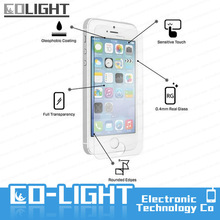 Delicate touch & Perfect adhesion for iphone 5 glass screen protector 0.2mm
