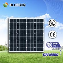 Bluesun factory cheap FOB price small power mono 50w solar panel for ipad
