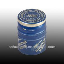 Blue Aluminum Screw Bottle Cap