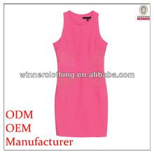 formal/office women preferred smart elegant sheath dress beaded chiffon